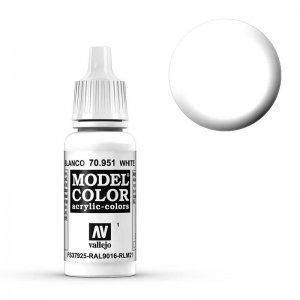 Model Color - Weiss (White) [001] · VAL MC70951 ·  Acrylicos Vallejo