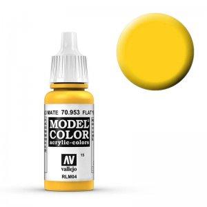 Model Color - Signalgelb (Flat Yellow) [015] · VAL MC70953 ·  Acrylicos Vallejo