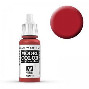 Model Color - Tomatenrot (Flat Red) [031] · VAL MC70957 ·  Acrylicos Vallejo