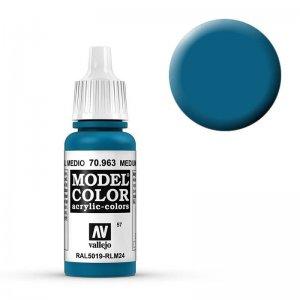 Model Color - Enzianblau (Medium Blue) [057] · VAL MC70963 ·  Acrylicos Vallejo