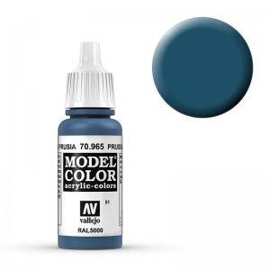 Model Color - Preussisch Blau (Prussian Blue) [051] · VAL MC70965 ·  Acrylicos Vallejo