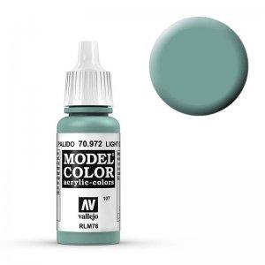 Model Color - Pasteltürkisgrün (Light Green Blue) [107] · VAL MC70972 ·  Acrylicos Vallejo