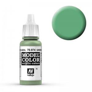 Model Color - Blassgrün (Green Sky) [076] · VAL MC70974 ·  Acrylicos Vallejo