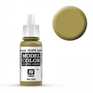 Model Color - Currygelb (Dark Yellow) [116] · VAL MC70978 ·  Acrylicos Vallejo