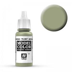 Model Color - Olivgrau (Medium Grey) [111] · VAL MC70987 ·  Acrylicos Vallejo