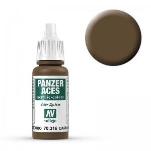 Panzer Aces 016 Dark Mud 17 ml · VAL PA316 ·  Acrylicos Vallejo