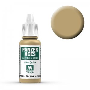 Panzer Aces 040 Highlight Afrikakorps 17 ml · VAL PA340 ·  Acrylicos Vallejo