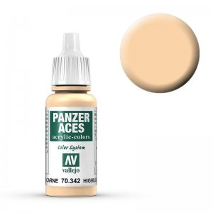 Panzer Aces 042 Highlight Flesh17 ml · VAL PA342 ·  Acrylicos Vallejo