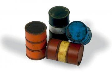 Moderne Benzinfässer (4 Stück) · VAL SC05204 ·  Acrylicos Vallejo · 1:35