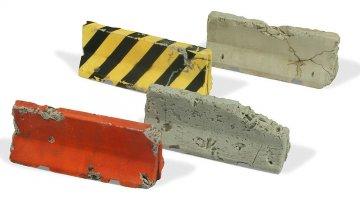 beschädigte moderne Betonbarrieren (4 Stück) · VAL SC05215 ·  Acrylicos Vallejo · 1:35