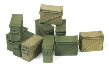 Große Munitionskisten (10 Stück) · VAL SC05221 ·  Acrylicos Vallejo · 1:35