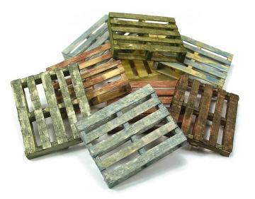 Holzpaletten, 4 Stück · VAL SC233 ·  Acrylicos Vallejo · 1:35