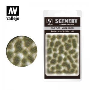 Wild-Gras, grün, gemischt, 6 mm · VAL SC416 ·  Acrylicos Vallejo