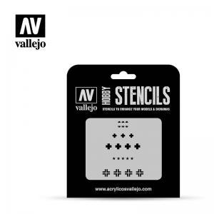 Schablone, Deutsche WWIIPanzer · VAL ST-AFV001 ·  Acrylicos Vallejo · 1:35