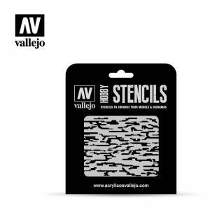 Schablone, Punkttarnung, modern  · VAL ST-CAM004 ·  Acrylicos Vallejo