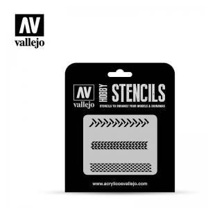 Schablone, Reifen-Spuren · VAL ST-TX002 ·  Acrylicos Vallejo · 1:35