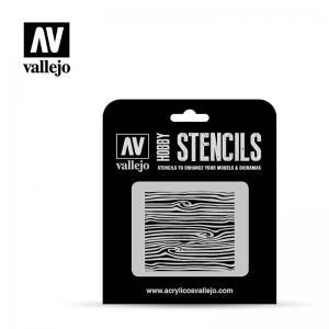 Schablone Holztextur 2 · VAL ST-TX007 ·  Acrylicos Vallejo · 1:35