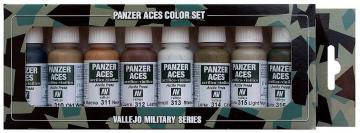 Panzer Aces Set No2 (8 Farben) (Wood, Leather, Canvas, Mud) · VAL VA70123 ·  Acrylicos Vallejo