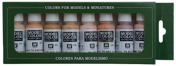 Model Color Set 24: Face/Skin Colours (8) · VAL VA70124 ·  Acrylicos Vallejo