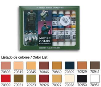 Model Color Set 25: Face/Skin Colours (16) · VAL VA70125 ·  Acrylicos Vallejo