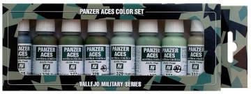 Panzer Aces Set No4 (8 Farben) (Russian, Italian, Japanese) · VAL VA70127 ·  Acrylicos Vallejo