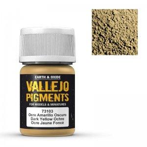 Vallejo Pigment Dark Yellow Ocre 30ml · VAL VA73103 ·  Acrylicos Vallejo