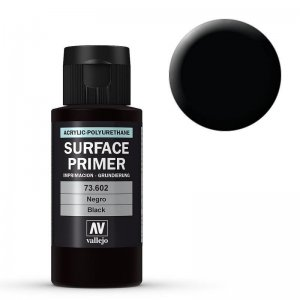 Vallejo Primer Black Acrylic-Polyurethane (60ml) · VAL VA73602 ·  Acrylicos Vallejo