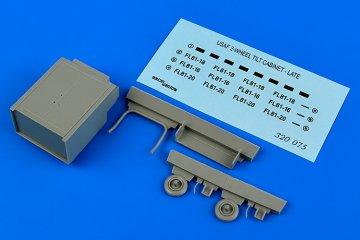 USAF 2- wheel tilt cabinet - late · AERB 320075 ·  Aerobonus · 1:32