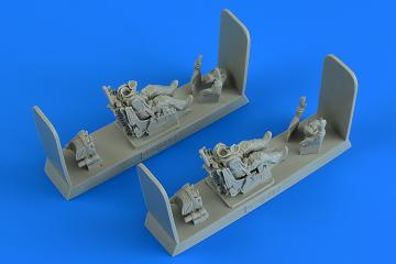 Modern Soviet Fighter Pilot and Operator with ejection seat - MiG-31 Foxhound · AERB 480217 ·  Aerobonus · 1:48