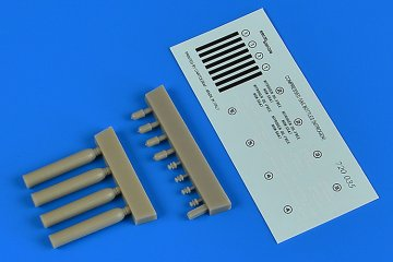 Compressed gas bottles (nitrogen) · AERB 720035 ·  Aerobonus · 1:72