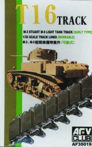 TRACKS M3/M5 RUBBER · AF 35019 ·  AFV-Club · 1:35