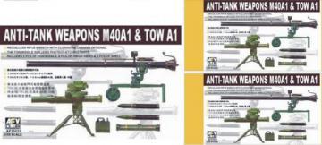 106 mm + TOW / ANTITANK WEAPONS · AF 35021 ·  AFV-Club · 1:35
