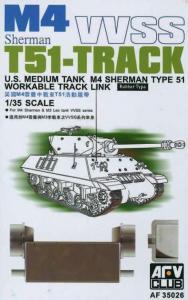 M4/M3 T51 SHERMAN TRACKS · AF 35026 ·  AFV-Club · 1:35