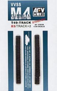 M4 T49 TRACKS (83 LINKS/SOFT RUBBER) · AF 35028 ·  AFV-Club · 1:35