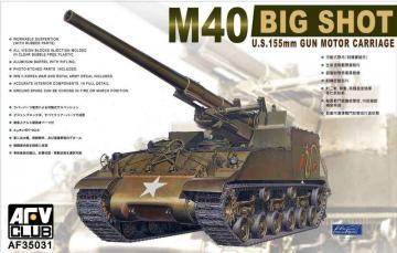 M40 BIG SHOT 155mm SP GUN · AF 35031 ·  AFV-Club · 1:35