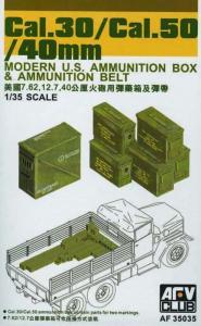 CAL.30/ CAL.50/ 40 mm AMMO BOXES · AF 35035 ·  AFV-Club · 1:35