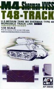 T-48 SHERMAN TRACKS (ARTICULATED) · AF 35038 ·  AFV-Club · 1:35