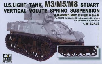 M5/M8 VVSS SUSPENSION · AF 35056 ·  AFV-Club · 1:35