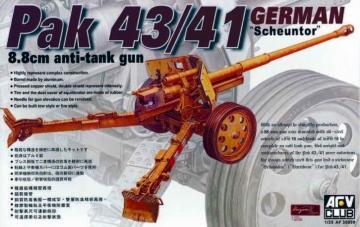 8,8 cm PAK 43/41 ANTITANK GUN · AF 35059 ·  AFV-Club · 1:35