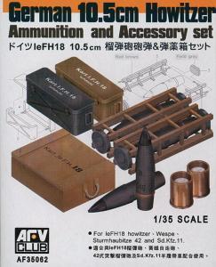 10,5 cm LeFH18 AMMO SET · AF 35062 ·  AFV-Club · 1:35