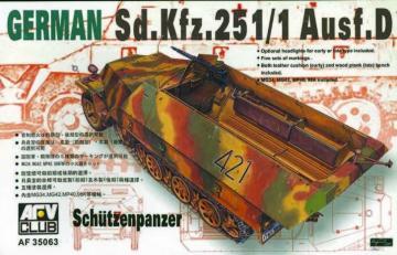 SDKFZ 251 D/1 HALF TRACK · AF 35063 ·  AFV-Club · 1:35