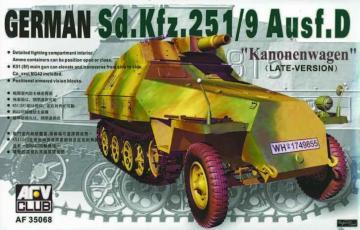 SDKFZ 251 D/9 75 mm · AF 35068 ·  AFV-Club · 1:35