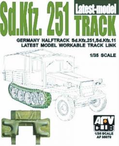 SDKFZ 251 TRACK FINAL TYPE · AF 35070 ·  AFV-Club · 1:35