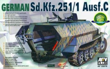 SDKFZ 251 AUSF C · AF 35078 ·  AFV-Club · 1:35