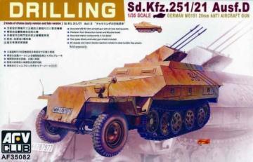 SDKFZ 251/21 DRILLING · AF 35082 ·  AFV-Club · 1:35