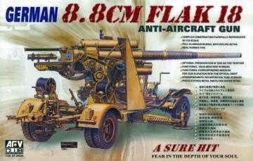 8,8 cm FLAK 18 · AF 35088 ·  AFV-Club · 1:35
