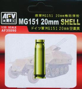 MG151 20 mm SHELL CASE (METAL) · AF 35090 ·  AFV-Club · 1:35