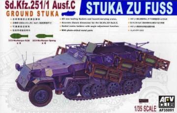 SDKFZ 251/1 AUSF C STUKA ZU FUSS · AF 35091 ·  AFV-Club · 1:35