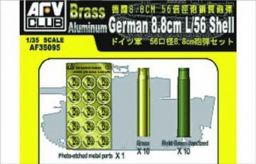 8,8 mm L/56 SHELL CASE · AF 35095 ·  AFV-Club · 1:35