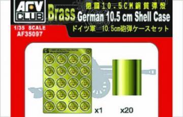 GERMAN 10,5 cm SHELL CASE · AF 35097 ·  AFV-Club · 1:35